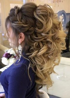 16 Bridal Hairstyles for Long Hair | Curly, Met and Flowers