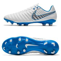 b1c1aadf9 Nike Tiempo Legend 7 Academy FG Soccer Shoes (White Blue)   SoccerEvolution