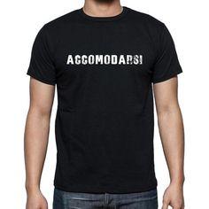 #maglietta #accomodarsi #uomini #parola  Maglietta nera Obsession! Trovare questo e molti altri qui -> https://www.teeshirtee.com/collections/men-italian-dictionary-black/products/accomodarsi-mens-short-sleeve-rounded-neck-t-shirt