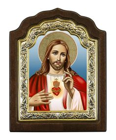 Sacred Heart of Jesus Christ - Byzantine icon - Christianity Art Heart Of Jesus, My Jesus, Jesus Christ, Byzantine Icons, Crown Of Thorns, Client Gifts, Pentecost, Eternal Love, Sacred Heart