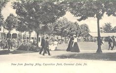 1908 POSTCARD CONNEAUT LAKE PA EXPOSITION PARK VIEW FROM BOWLING ALLEY
