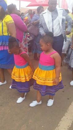 #traditionalwedding #traditional #wedding #sepedi Tsonga Traditional Dresses, Traditional Dresses For Kids, African Traditional Wear, Pedi Traditional Attire, Traditional Outfits, Traditional Wedding, African Bridesmaid Dresses, African Wedding Dress, Baby African Clothes