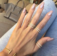 Accessorize elegantly with some gold pave rings