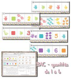 La maternelle de Laurène: BAC - les quantités de 1 à 6