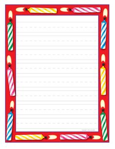 Birthday Writing Paper — fun paper is a great incentive for student writing