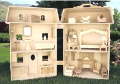 My parents made an unbelievable doll house when I was young. I wish they would have kept it. I would love to make one for my daughter someday