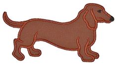 Dachshund Applique - 2 Sizes! | Tags | Machine Embroidery Designs | SWAKembroidery.com Applique for Kids