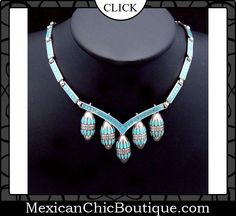 Taxco Jewelry ♥ Bold Necklace ♥ Mexican Sterling Silver ♥ Vintage Necklace ♥ Vintage Margot de Taxco Mexican Sterling Silver Enamel Necklace $2,250.00