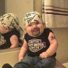 a Jolly Little biker