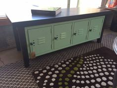 Seafoam Foot Locker Bench perfect for your mud room or child's bedroom. Stay organized with this unique piece.