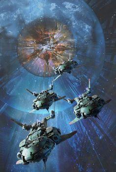 StarFire Oblivion by Dave Seeley on ArtStation. Cover art for Baen Books. Spaceship Art, Spaceship Design, Spaceship Concept, Space Fantasy, Fantasy World, Fantasy Art, Science Fiction Art, Science Art, Design Steampunk