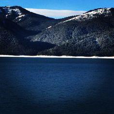 Palisades lake/reservoir in Alpine WY