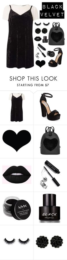 """""""Black Velvet"""" by emma-be-awesome ❤ liked on Polyvore featuring Dorothy Perkins, Steve Madden, Brika, Bobbi Brown Cosmetics, NYX and Kenneth Cole"""