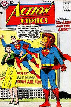 The Superman take on Beauty and the Beast from Action Comics #243