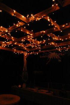 pergola lighting idea