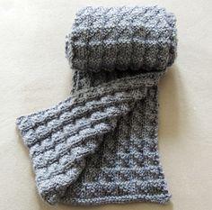 Hoy quiero mostrarles esta bufanda que acabo de terminar en dos agujas