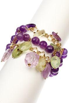 HauteLook los beads van en stretch y las cadenas se atan con jump rings