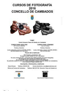 CORES DE CAMBADOS: O CURSO DE FOTOGRAFÍA CAMBIA DE DATA