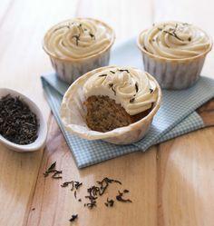 Cupcakes au miel et thé noir : photo de la recette