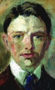 artist August Macke - self-portrait, 1901