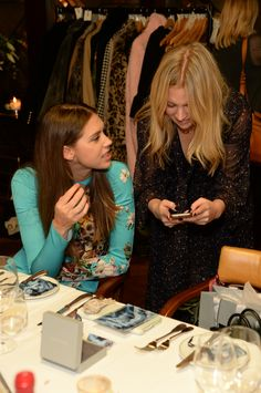 Sabrina Pearcy and Scarlett Bowman at our Meaningful Gemstone Dinner at The Ivy Soho brasserie