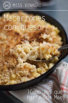 Macarrones con queso al estilo americano, sobredosis de queso con una cobertura crujiente y muy cremoso… ¡SLURP! - ¡Los Mac & Cheese de siempre!