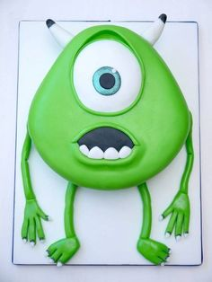 Mike Wazowski cake from Monsters Inc