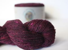 Spinning Yarns Weaving Tales - Tirchonaill 538 Red wine 100% Merino Laceweight for Knitting, Crochet, Warp & Weft