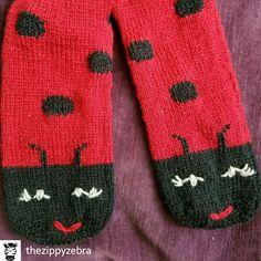 Ladybug Socks by Ladybug, Gloves, Socks, Knitting, Crochet, Winter, Lady Bug, Crochet Hooks, Winter Time