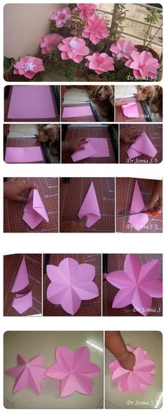 Paper Flowers Tutorial party tutorial party ideas party crafts paper flower party craft ideas