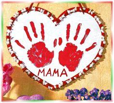 Ein Herz zum Muttertag, Vatertag, Geburtstag... Basteln mit Kindern