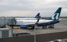 AirTran Airways Boeing 737-700 at Greater Rochester, NY International Airport in August 2007.
