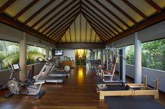 #Anantara Kihavah Villas in #Maldives provides an excellent gym for those of you who need a good work out