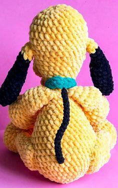 Baby pluto dog amigurumi free crochet pattern - Lovelycraft Crochet Elephant Pattern Free, Disney Crochet Patterns, Animal Knitting Patterns, Crochet Disney, Crochet Amigurumi Free Patterns, Free Crochet, Crochet Animal Amigurumi, Create, Happy