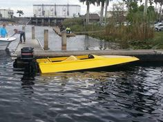Yellow with Black Mercury Outboard, Cool Boats, Boat Stuff, Speed Boats, Classic Boat, Yachts, Fun, Antique, Yellow