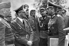Hitler in Poland by Heinrich Hoffmann -- Major General Crantz informed Fuhrer about the use of his troops.