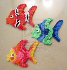 sandylandya.Angel Fishes Perler Bead Sprite by GiftedChild777 on deviantart