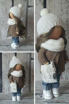 Winter doll doll Tilda doll Art doll handmade by AnnKirillartPlace