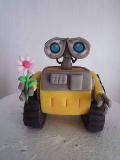 Wall-e and Eve - Cake by dolcefede - CakesDecor Wall E Eve, Disney Pop, Love Wall, Ideas Para Fiestas, Awesome Cakes, Polymer Clay Jewelry, Cake Ideas, Fondant, Deserts