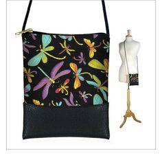 SALE Dragonfly cross body purse  small by janinekingdesigns