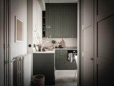 my scandinavian home Swedish Style, Swedish House, Monday Inspiration, Interior Inspiration, Design Inspiration, Olive Green Kitchen, Design Scandinavian, Scandinavian Interiors, Mad About The House