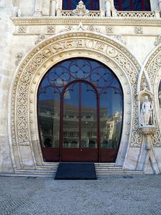 Lisbon's delightful main train station, Rossio, off the Baixa district's Praca dos Restauradores.
