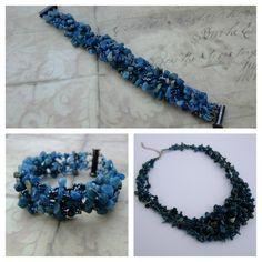 Apatit mineral - freeform necklace and bracelet