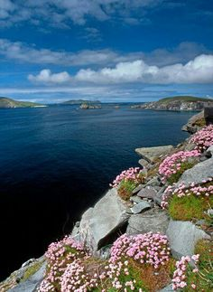 Gorgeous Slea Head, Ireland. Slea Head is a promontory in the westernmost part of the Dingle Peninsula, located in the barony of Corca Dhuibhne in southwest County Kerry, Ireland.