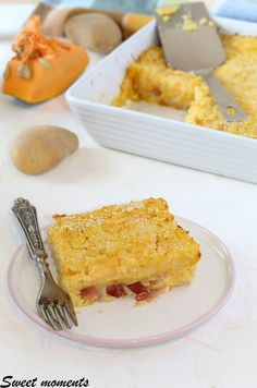 #gateaudizuccaepatate #gateau #zucca #patate #speck #scamorza #foodblogger #foodblog #gialloblog #giallozafferano Best Italian Recipes, Foodblogger, Dolce, Grande, French Toast, Good Food, Anna, Group, Cooking