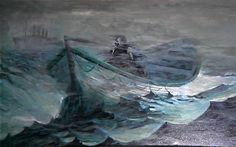 Night Gallery Season 1 - Lone Survivor; painted by Tom Wright