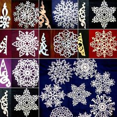 25 Paper Snowflake Designs with Templates for Winter Decor - http://www.amazinginteriordesign.com/25-paper-snowflake-designs-templates-winter-decor/