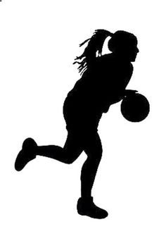 Girls Basketball Player Silhouettes Girls Room Wall Decal Decor #Unbranded