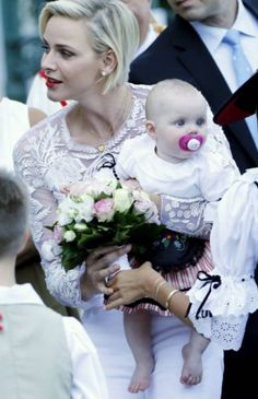 Princess Charlene proud Mum with daughter Princess Gabriella for annual Pique Nique-28. August 2015