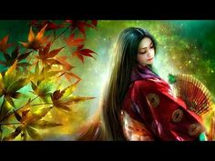 """1 Hour of Japanese Instrumental Music I just post this delightful mystery enlightenment meditation on my """"Ancient Egyptian Ancient Greek Traditional Cultural Touch Euphonious Pleasing the Ears Symphonious Patronymics From Hoary Ruler Grey King Evangelio"""" 3d Fantasy, Fantasy Women, Fantasy Girl, Shuriken, Caricatures, Geisha, Hokusai, Art Asiatique, World Crafts"""